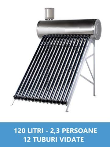 panou solar nepresurizat inox 120 litri
