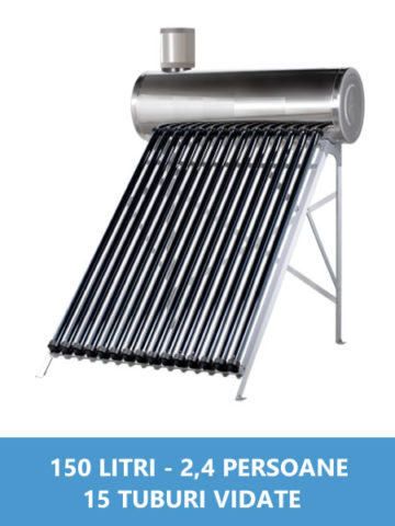 panou solar nepresurizat inox 150 litri