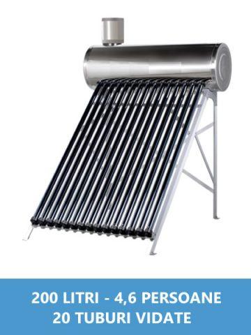panou solar nepresurizat inox 200 litri