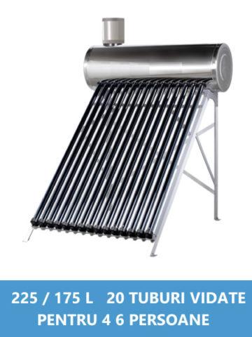 panou solar nepresurizat inox 200 225 175 litri