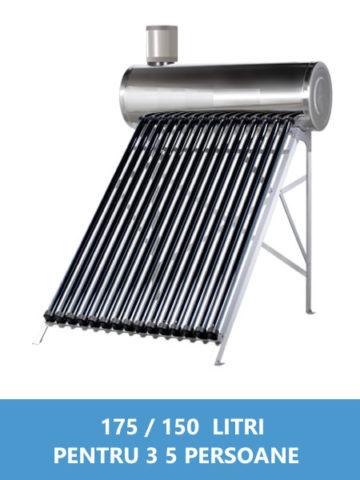 panou solar nepresurizat inox 175 150 litri